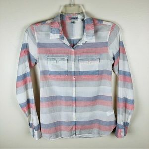 Toad & Co Long Sleeve Button Down Shirt Sz XS